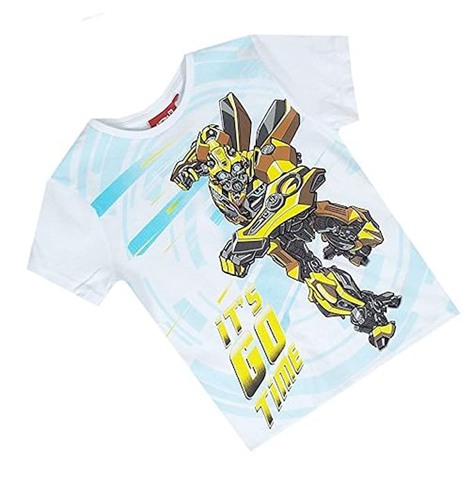 New Ex High Street Store Transformers It's Go Time Bumblebee White Short  Sleeved Top T-Shirt 3 5 6 7 8 y (7 Years): Amazon.co.uk: Clothing