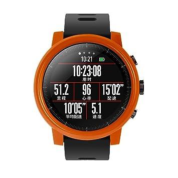 Saisiyiky Marco Caso Amazfit Sports Smartwatch Stratos 2 Cubierta Proteger Shell Protector Funda para Xiaomi Huami Reloj Carcasa (Naranja)