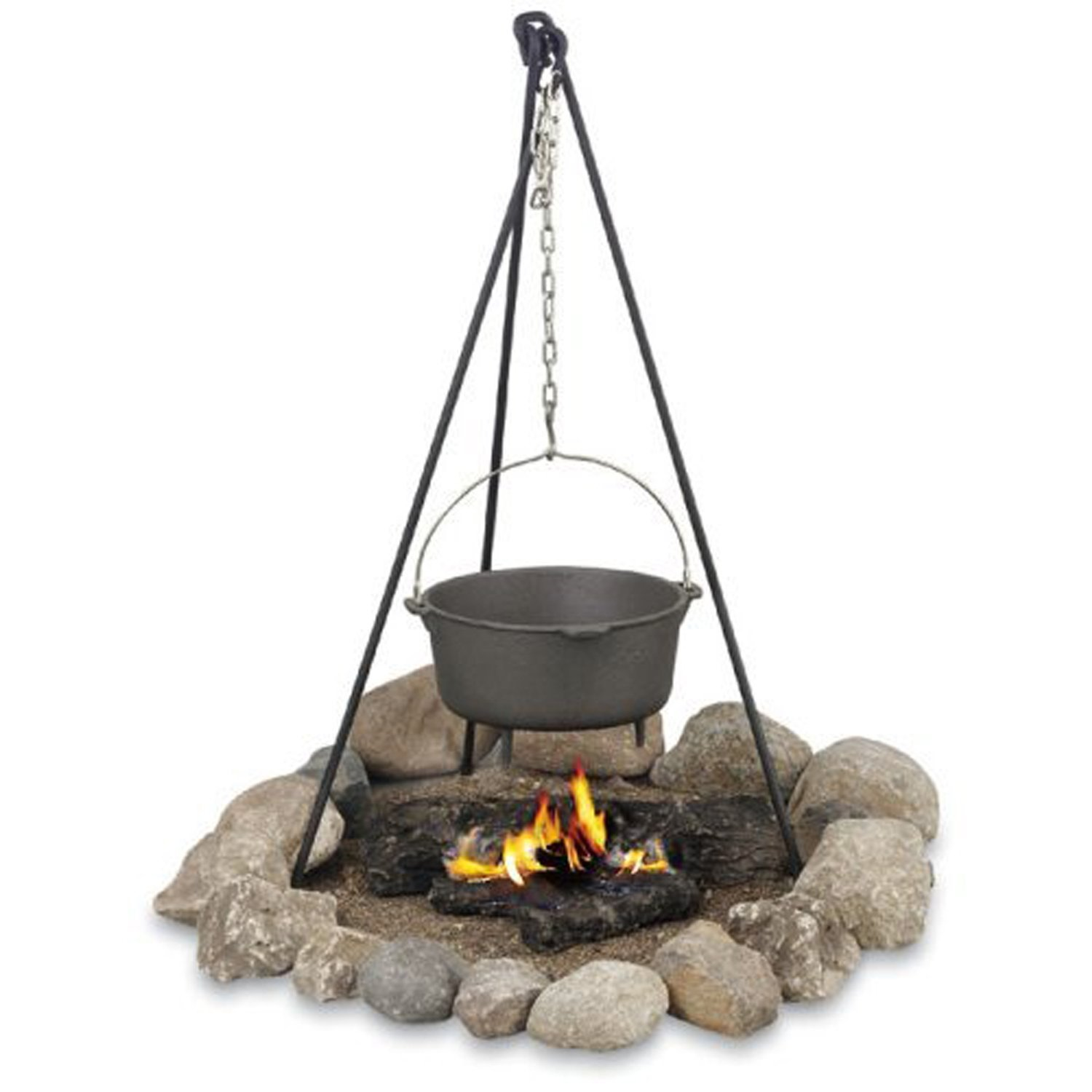 Campfire Cooking Equipment And Dutch Oven Accessories - Texsport Deluxe Campfire Cooking Tripod