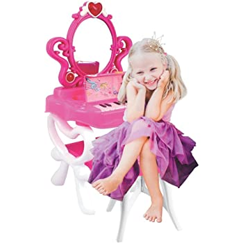 Amazon Com Magical Princess Jewelry Stand Pretend Play Battery Operated Toy Beauty Mirror