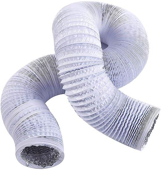 YHJGKO evacuación de la Campana extractora, Kit de extensión 6m Flexible de Tubo Compuesto PVC, Aire diámetro Doble Tubo de Aluminio Blanco lámina Sistema de Aire Acondicionado, secador de Campana: Amazon.es: Hogar