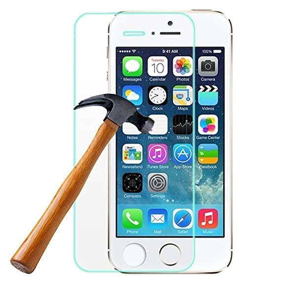 Mobifit Tempered Glass Screen Protector for Apple iPhone 5/5S/5C Screen guards at amazon