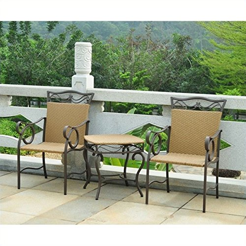 International Caravan Valencia 3 Piece Patio Conversation Set in -
