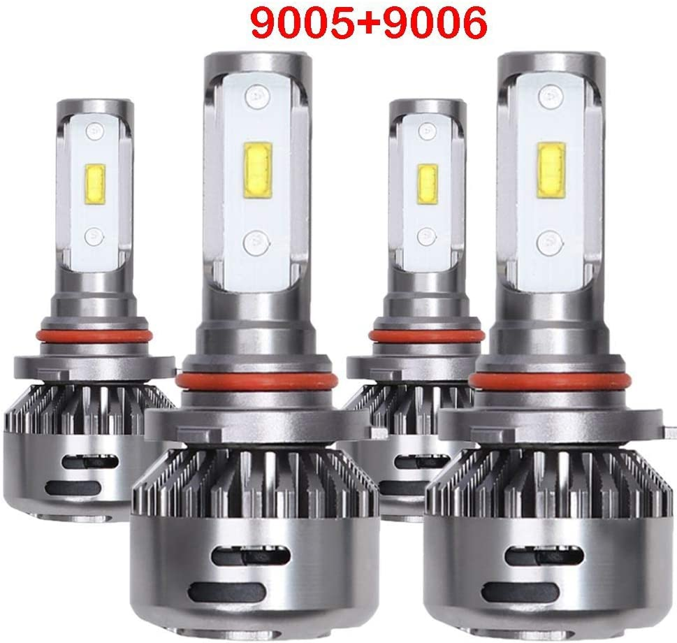 H11 9005 LED Headlight Bulbs HB3 H8 Hi Lo Beam Extremely Bright 6000K Bulb Conversion Kit IP68 Combo Package - Cool White CREE 2 sets