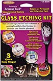 Armour Starter Glass Etching Kit with Assorted Stencils Glass Mirror Suncatcher (12 Pack)