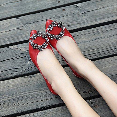 Walking Flats C Summer Shoes Microfiber Shoes Ballerina Spring Light Soles Comfort Heel Flat Women's CqfwBxg