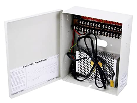amazon com monoprice 16 channel cctv camera power supply 12vdcClosed Circuit Tv Fuse Box #5
