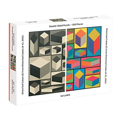 Galison MoMA Sol Lewitt 500 Piece Double Sided Puzzle for Families, Abstract Art Puzzle with Cubic Art in Black and White + Color: Galison, MoMA: Toys & Games