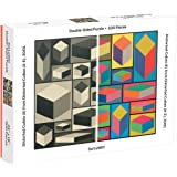 Galison MoMA Sol Lewitt 500 Piece Double Sided Puzzle for Families, Abstract Art Puzzle with Cubic Art in Black and…