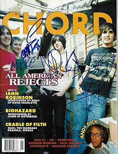 The All American Rejects Signed - Autographed Complete Group Chrod Magazine - Tyson Ritter, Nick Wheeler, Mike Kennerty, and Chris Gaylor
