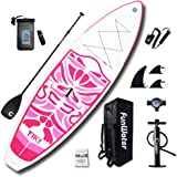 """FunWater Inflatable 10'6×33""""×6"""" Ultra-Light (17.6lbs) SUP for All Skill Levels Everything Included with Stand Up Paddle…"""