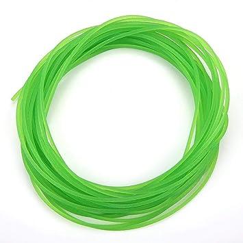 Correas redondas de uretano de alto rendimiento, correa de transmisión de PU Correa redonda de poliuretano para transmisión Transmisión verde(2mm*10m): ...