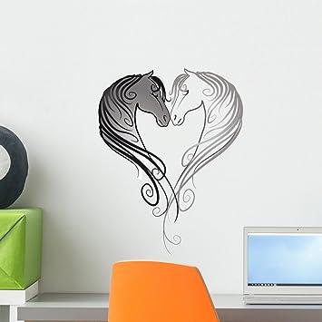 Horse Head Silhouette Wall Art Sticker Horse Riding Equestrian
