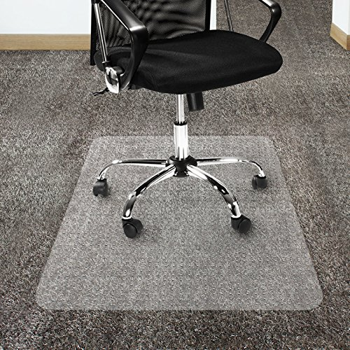Office Marshal Polycarbonate Chair Mat for High Pile Carpet Floors, 36'' x 48'' - Multiple Sizes - Clear, Studded, Carpet Floor Protection Mat by Office Marshal