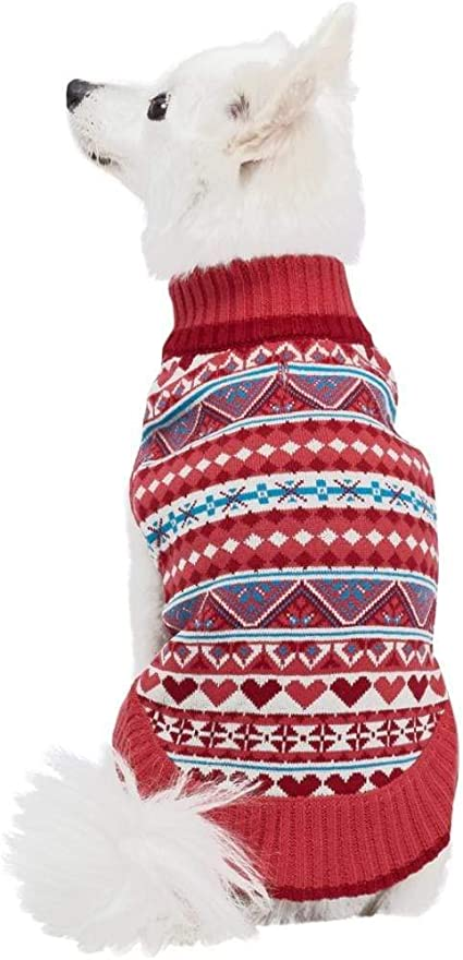 Blueberry Pet 9 Patterns Fair Isle//Lopi Pullover Interlock Dog Sweater and Matching Sweater for Pet Owner