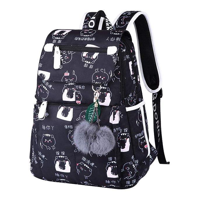 Amazon.com | Waterproof Student Girl School Bag Women Backpack Female Travel Bag Children Rucksacks Mochila Bagpack balloon Black Bag | Kids Backpacks