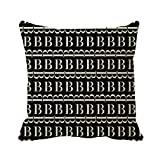 Starings Sofa Pillow Covers Monogram Initial Pattern, Letter B In White Print Cushion Covers 20in