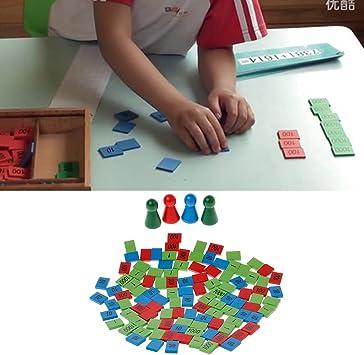 MiSha Juguete Juego de Sellos, Juguete de Madera Montessori Juguetes educativos Montessori matematicas: Amazon.es: Juguetes y juegos