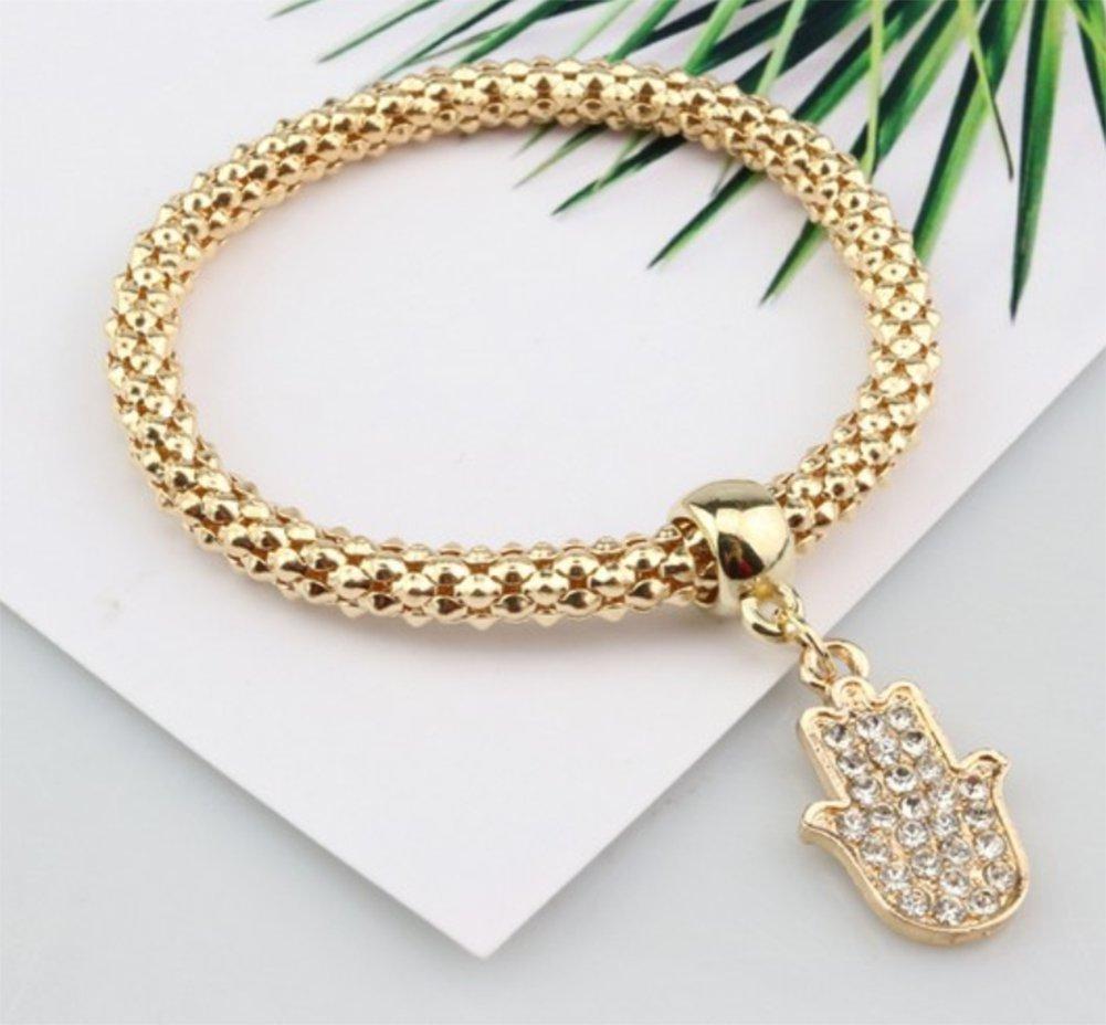 3 PCS JUNGEN Simples damas elegantes pulseras de cadena de ma/íz creativa pulseras de plata joyas elegantes para ni/ñas Ancla, barco, tim/ón