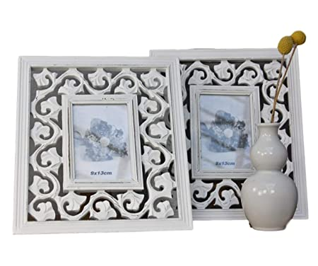 Box Photo Frame Antique White Standing Frame Wood Baroque Rosalie ...
