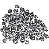 ANKKO Perles antiques en argent faites à la main pour Bracelet Pandora