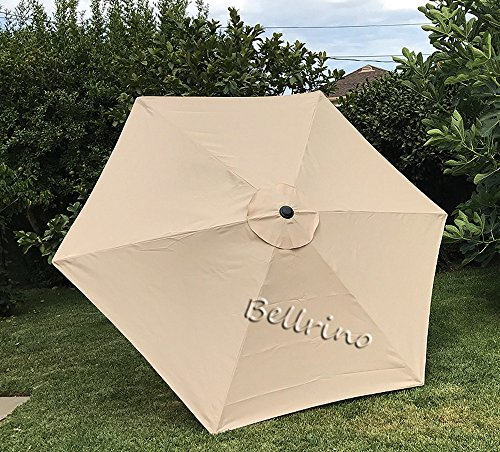BELLRINO DECOR Replacement STRONG THICK Umbrella Canopy for 9ft 6 Ribs Canopy Only BEIGE