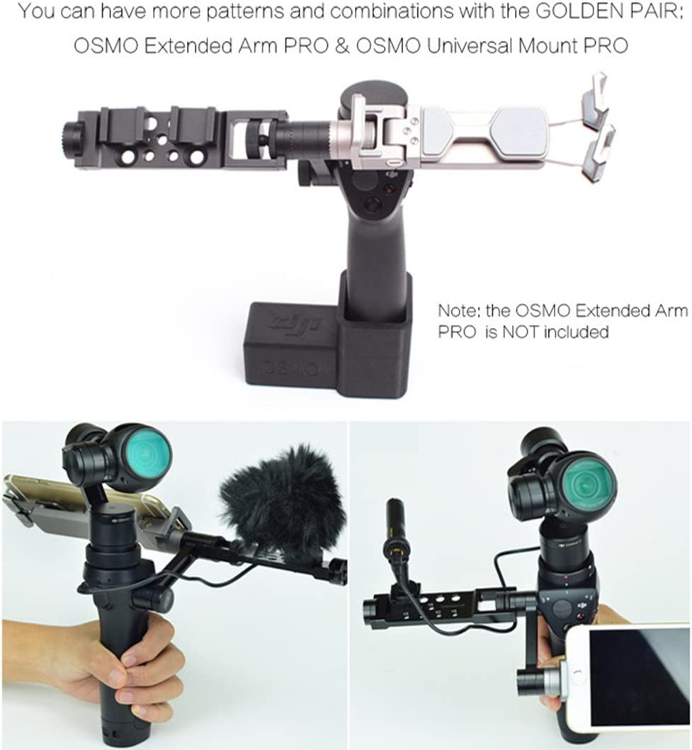 Universal Mount Adapter for DJI OSMO Handheld 4K Camera 3-Axis Gimbal Kits Accessories Extension Arm for DJI OSMO Mobile 1 Handheld Gimbal DJI OSMO DJI OSMO Pro//Raw DJI OSMO+ Plus