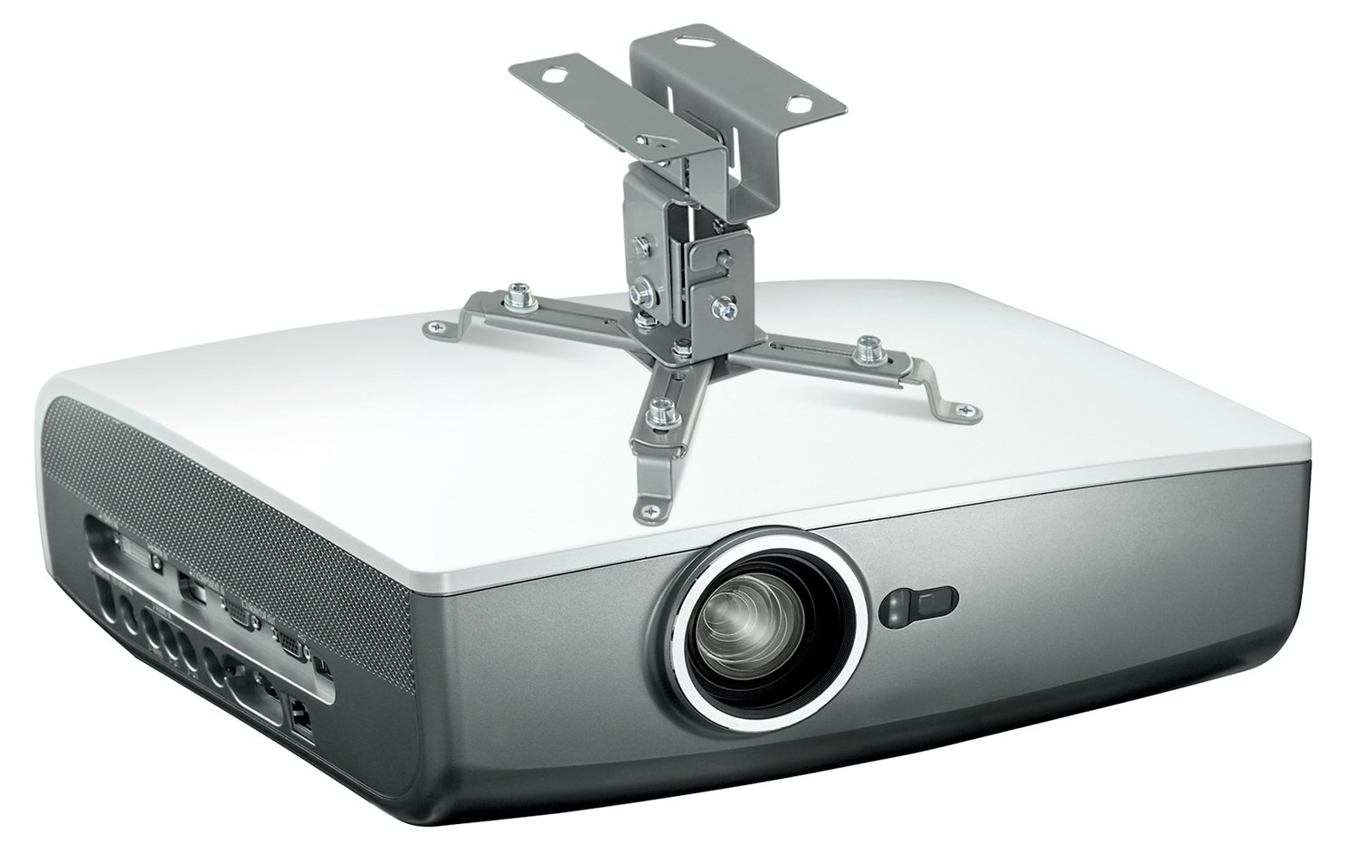 lcddlp mount white dlp or vaulted lcd projector fits flat loctek bracket ceiling both store