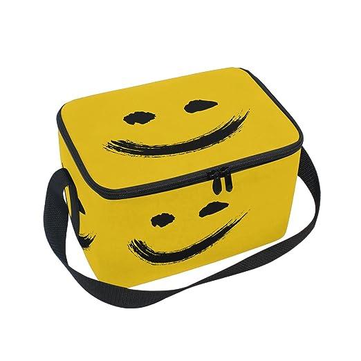 ALAZA Smile Emoji - Bolsa térmica para el almuerzo, bolsa ...