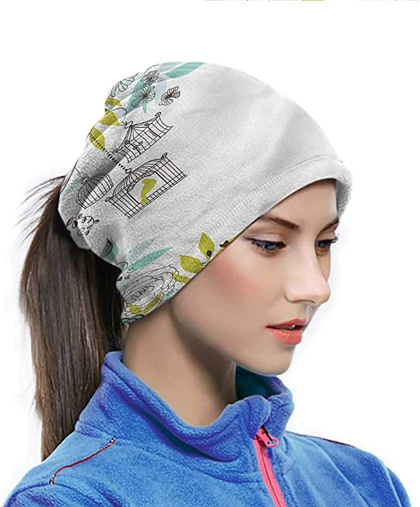 Face Cover Birds, Blooming Flowers Bird Cages Motorcycle Bandanas For Men women Sports/Outdoors 10 x 11.6 Inch
