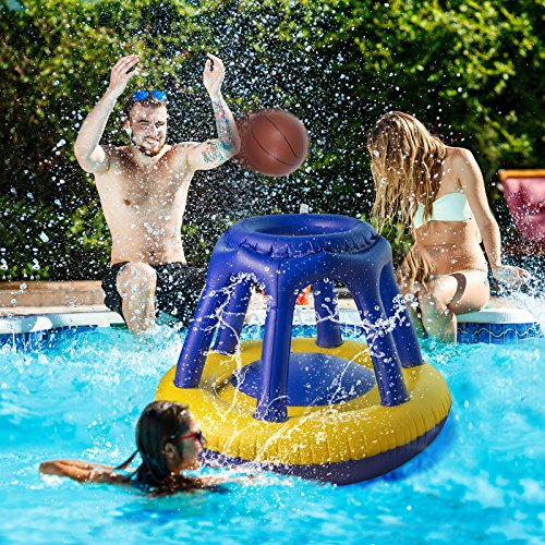 Sable Inflatable Pool Basketball Hoop with one ...