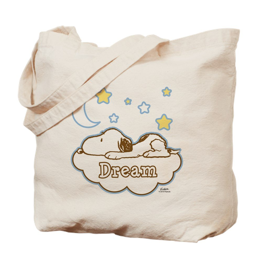 CafePress – スヌーピーDream – ナチュラルキャンバストートバッグ、布ショッピングバッグ M ベージュ 14870479166893C B015QCRNME MM