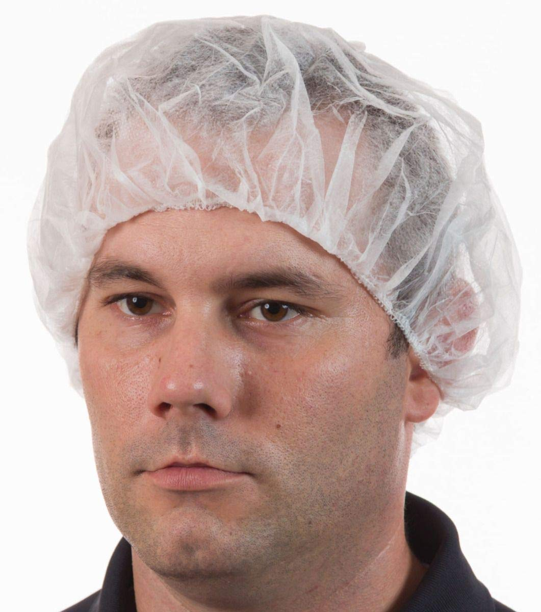International Enviroguard Disposable Bouffant Hair Nets, White (28'', Case of 1000)