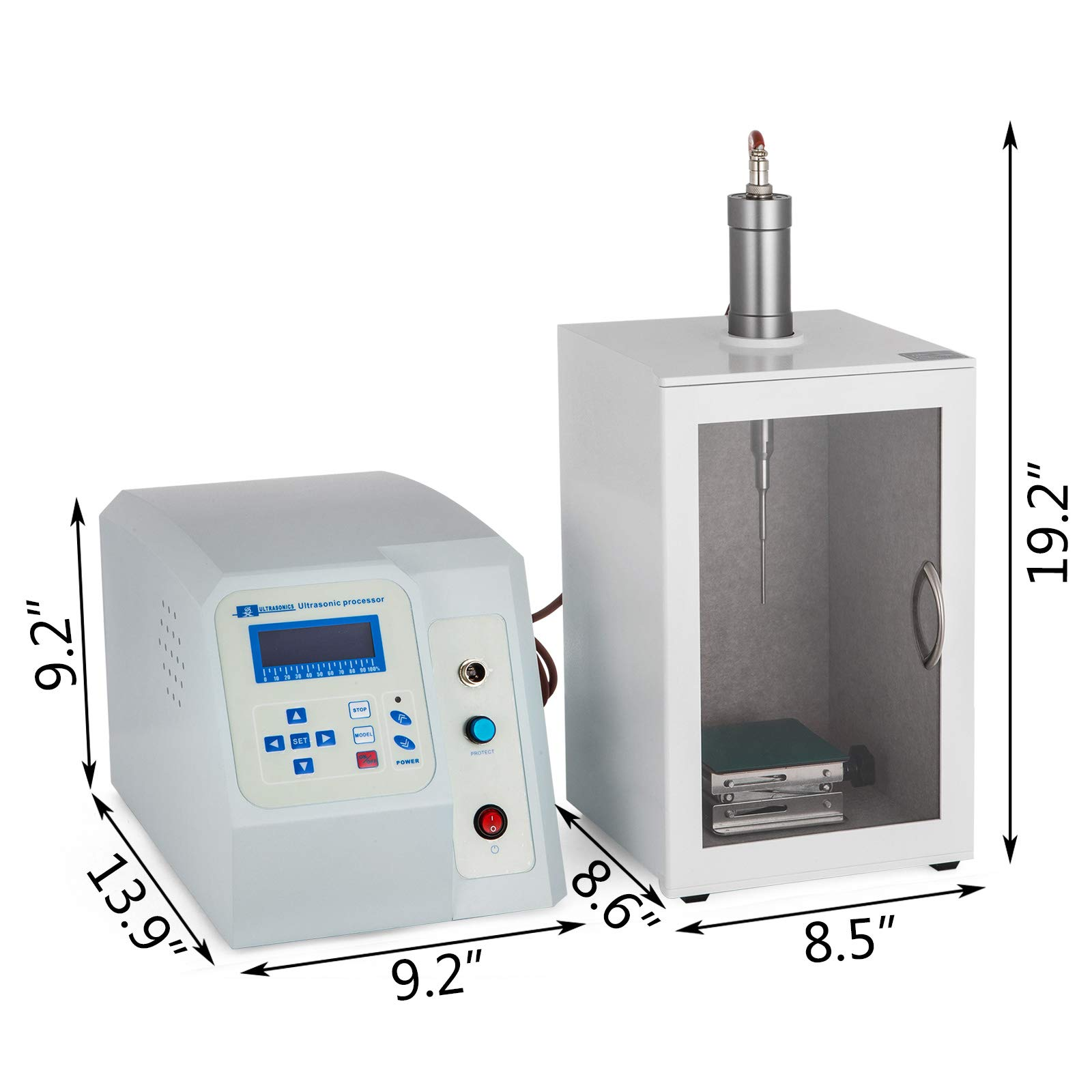 VEVOR Ultrasonic Homogenizer 2~100ML Lab Ultrasonic Sonicator Processor 20KHz Cell Disruptor Mixer by VEVOR (Image #2)