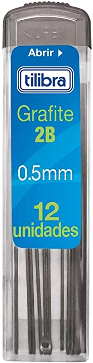 Grafite 0.5mm 2B, Tilibra, 2 Unidades