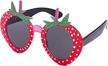 SIX Erdbeer Sonnenbrille, in rot mit weißen Punkten, Junggesellinnenabschied (324-236)