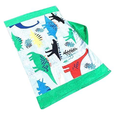 Feoya - Toalla de baño con capucha unisex para niños, superabsorbente, toalla de playa