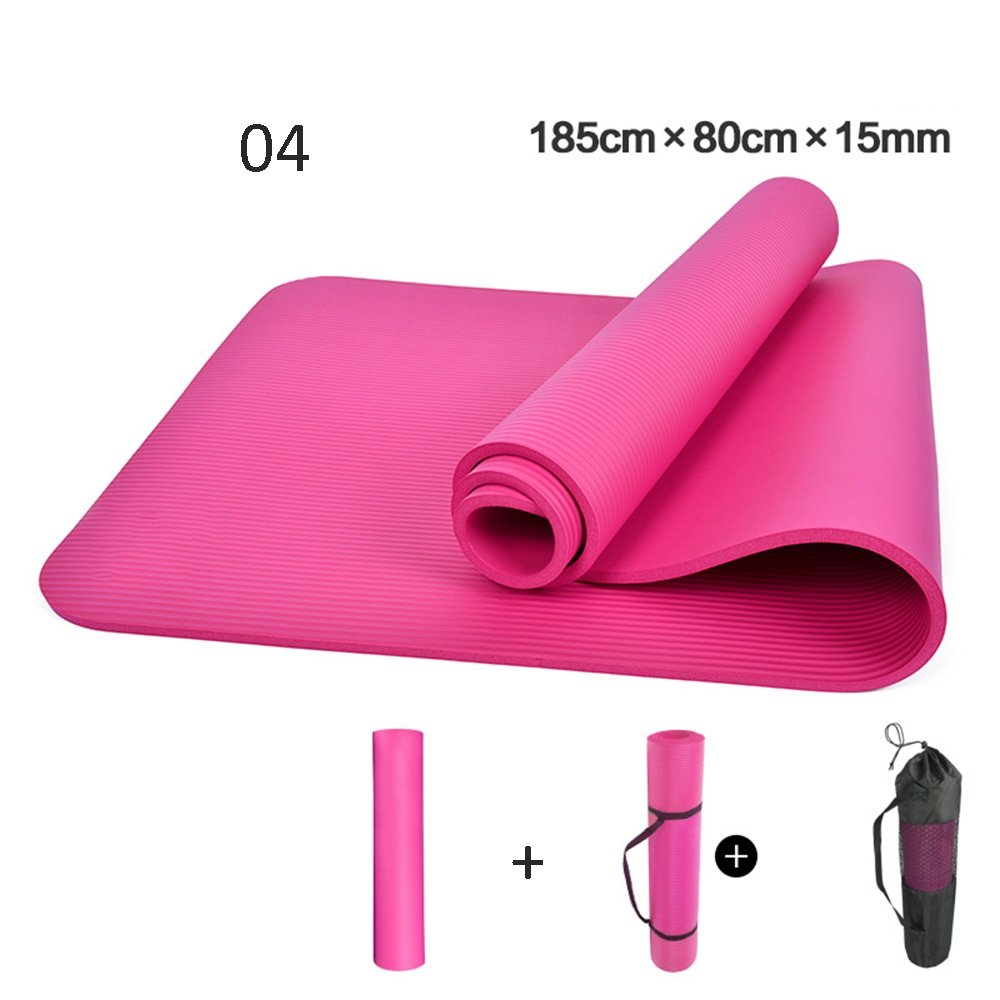 Yoga 15mm Mat Beginners Ladies Sports Blanket (Color ...