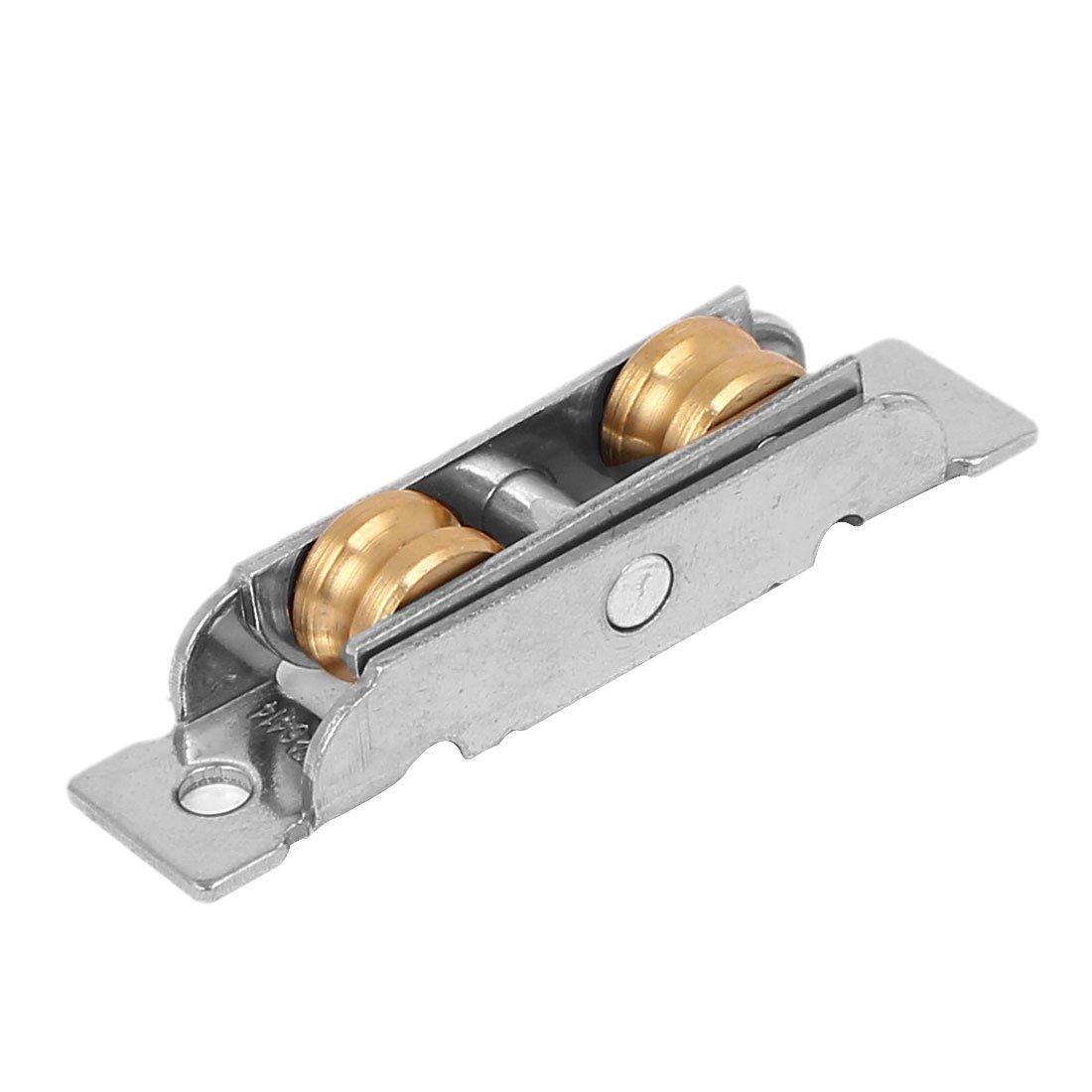 sourcingmap 12mm x 8mm doppio rullo di ottone vetro scorrevole per dell porta ruota a puleggia