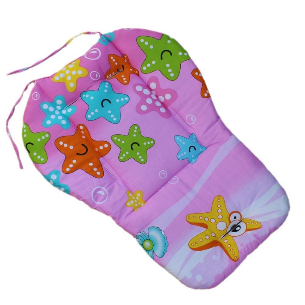 Baby Giraffe Stroller Pushchair Seat Cushion Cotton Mat Cartoon Printed Soft Thick Pad
