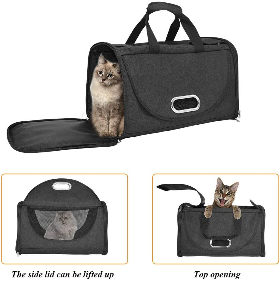 Car Seat Safe Carrier Premium Pet Carrier Airline Approved Soft Sided for Cats and Dogs Portable Cozy Travel Pet Bag