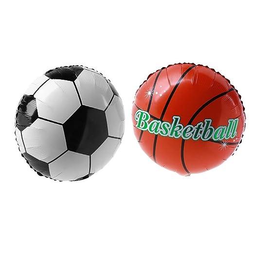 YouN 2pcs 18 pulgadas balón de fútbol baloncesto aluminio globo de ...