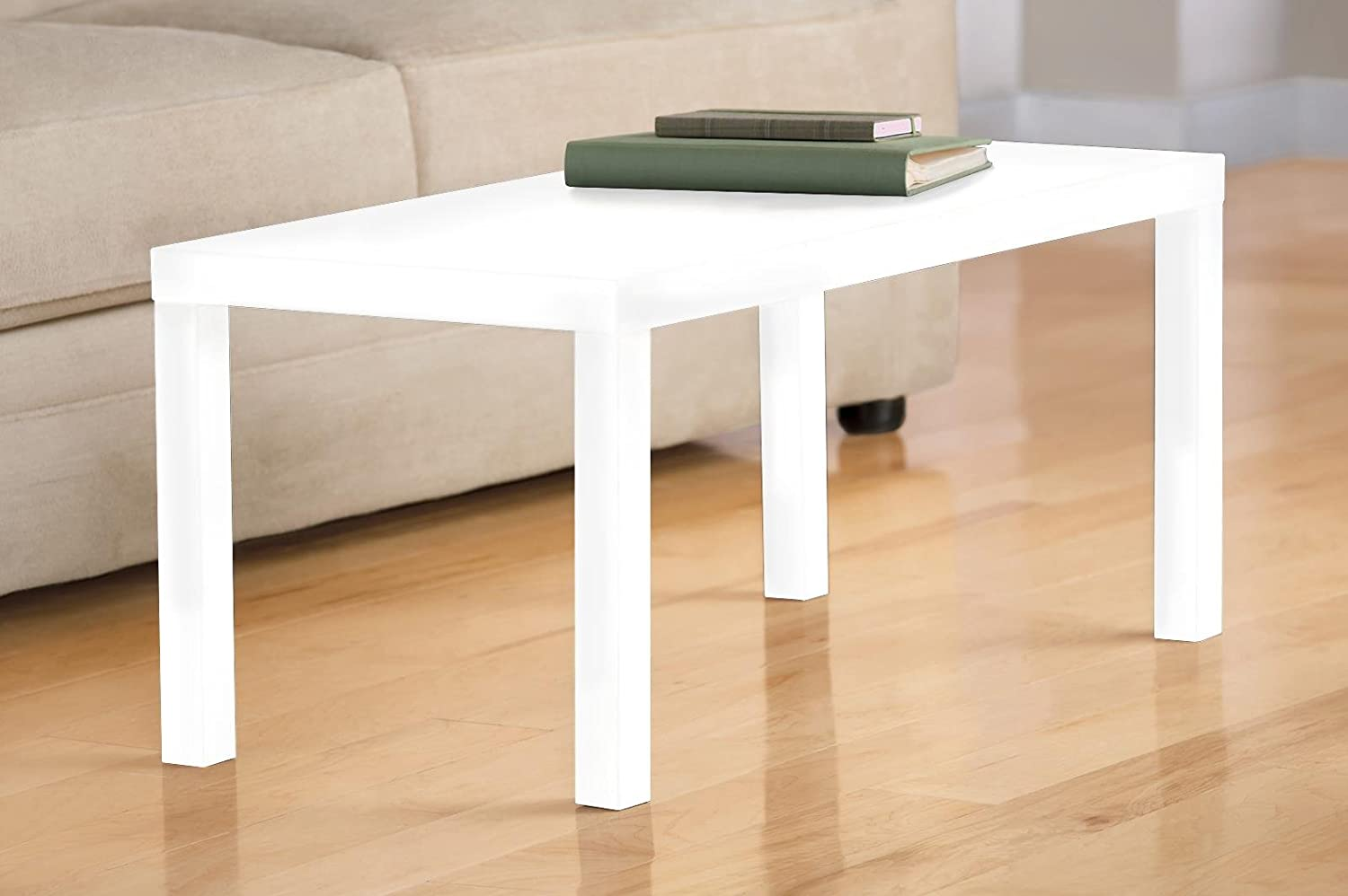 DHP Parsons Modern Coffee Table, Multi-use and Quick Assembly, White