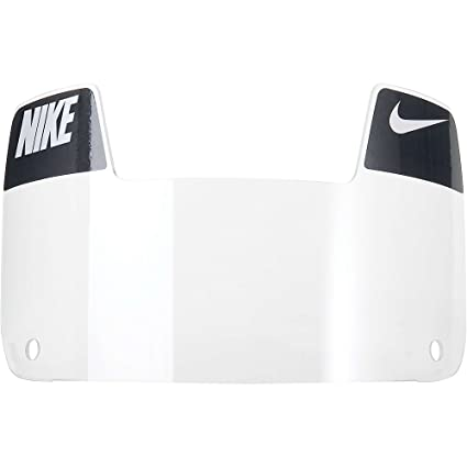56c57369 Amazon.com: Nike Youth Gridiron Eye Shield with Decals (Clear/White ...