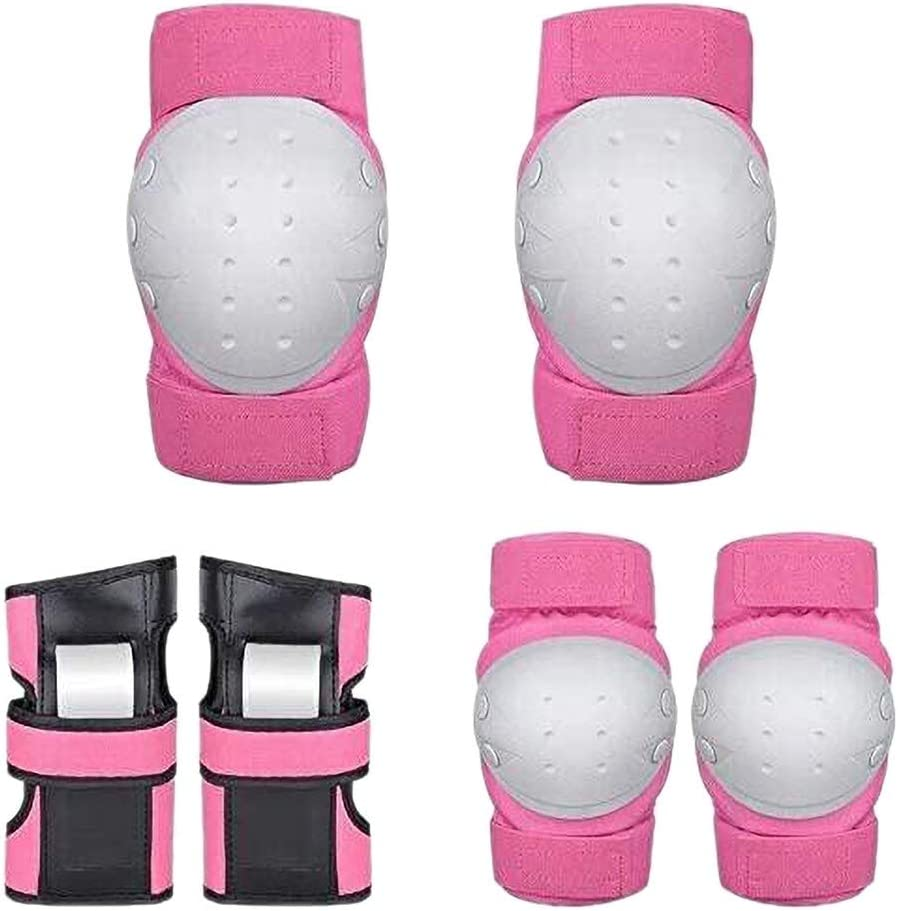 Scooter /& Riding Sports Skating GANENN Adult//Child Wrist Guards Inline Roller for Skateboarding Pink Knee Elbow Pads 3 in 1 Protective Gear Set