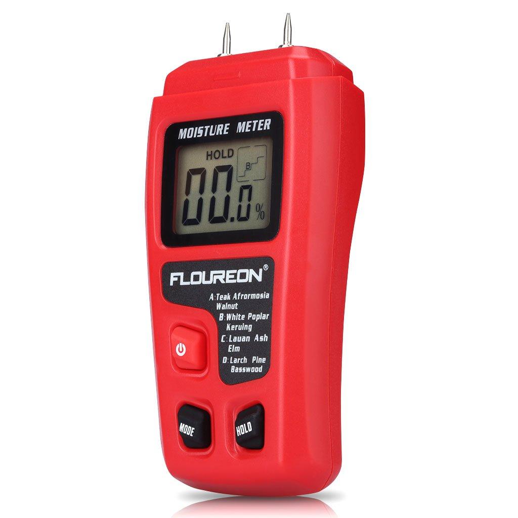 Medidor digital de humedad en la madera de alta precisión de medición de Flouroen: Amazon.es: Bricolaje y herramientas