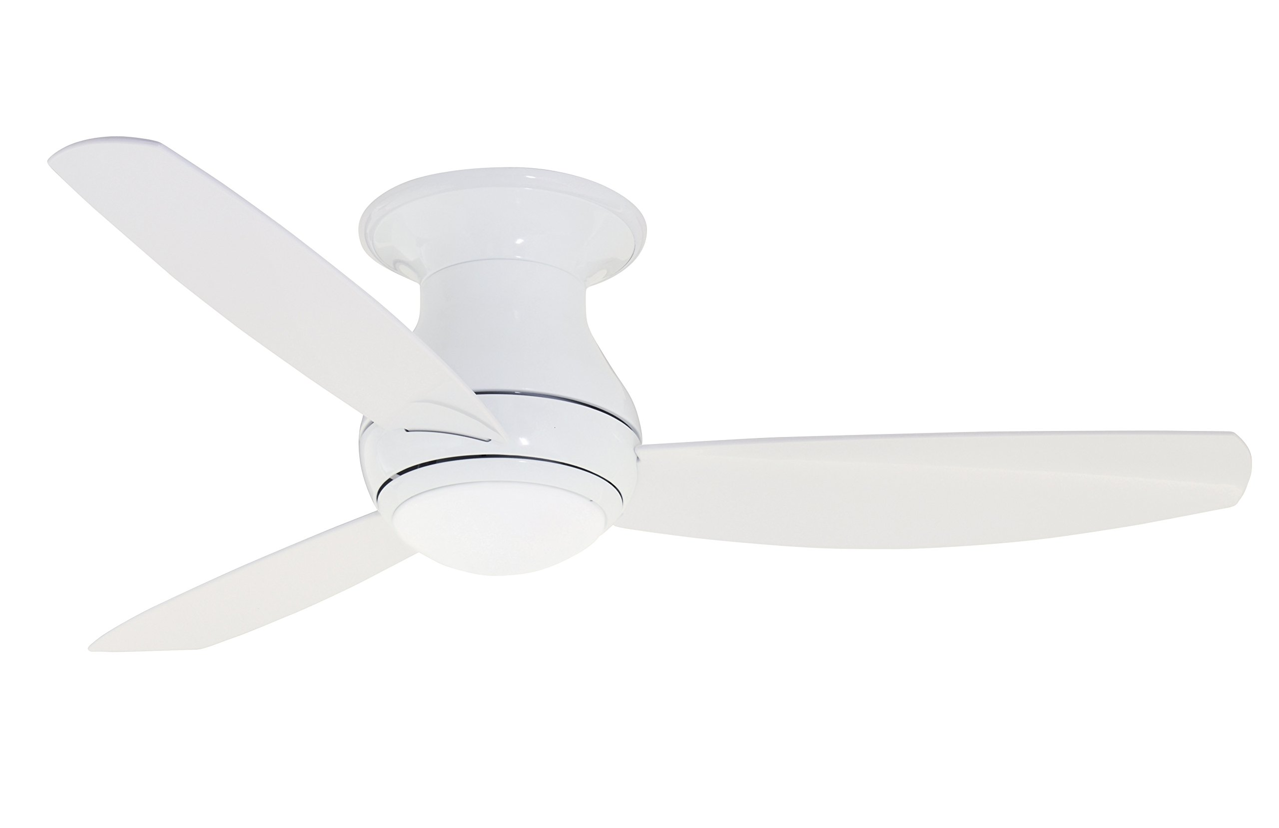 Emerson CF152LWW Curva Sky 52-inch Modern Ceiling Fan, 3-Blade Ceiling Fan with LED Lighting and 6-Speed Remote Control