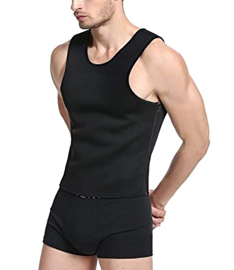 ba8bf1c7a4 HITSAN INCORPORATION NINGMI Males Mans Fitness Hot Shaper Tanks Tops Fat  Burning Sweat Sauna Tops Vests
