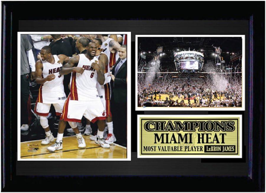 Encore Miami Heat de la NBA 12 x 18 Enmarcado dinámico Duo Lebron ...