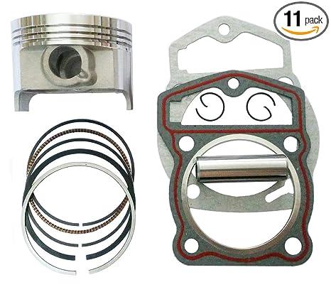 Amazon com: 69mm Piston 17mm pin piston Gasket kit for